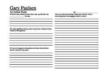 Gary Paulsen Author Study