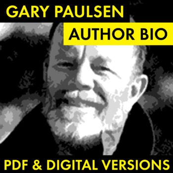 Gary Paulsen Author Study Worksheet, Easy Biography Activity, CCSS