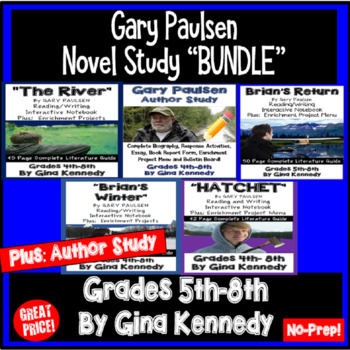 "Gary Paulsen ""Bundle"", Three Complete Novel Studies, Plus Author Study"