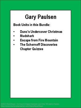 Gary Paulsen Novel Study Bundle
