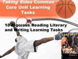 "Gary Soto's ""Taking Sides"" Common Core Learning Tasks - 18 Rigorous Tasks!!"