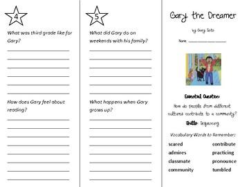 Gary the Dreamer Trifold - Wonders 3rd Grade Unit 1 Week 3