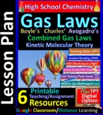 Gas Characteristics and Laws: Printable Guided Reading & Worksheets for HS Chem