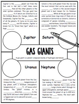 Gas Giants Doodle Notes