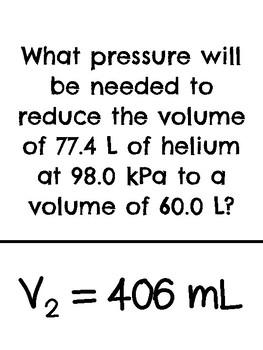 Gas Law Problems *Scavenger Hunt*