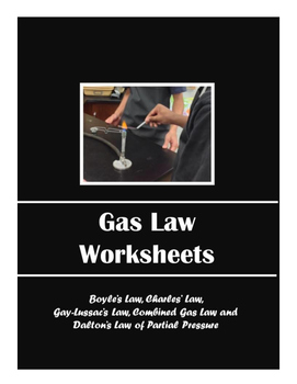 Gas Law Worksheets (Packet of 6 Worksheets)