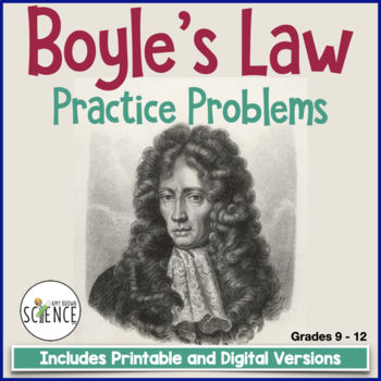 Gas Laws: Boyle's Law Homework