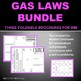 Gas Laws Bundle: Three graphic organizer foldables for INB