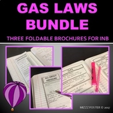 Gas Laws Bundle: Three graphic organizer foldables for INB