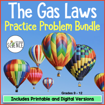Gas Laws Bundle Of 9 Homework Worksheets By Amy Brown Science Tpt