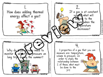 Gas Laws (Charles's & Boyle's) Task Cards - with or without QR codes