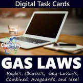 Gas Laws Digital Task Cards (Distance Learning)