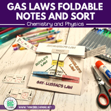 Gas Laws Foldable Notes and Sort