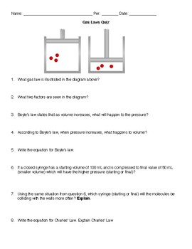 Gas Laws Group Quiz