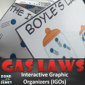 Gas Laws Graphic Organizers for the Chemistry Notebook (English/Spanish)