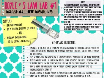 Gas Laws Lab