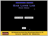 Chemistry - Gas Laws Lab Software - PC Version