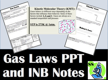 Gas Laws PPT and Interactive Notebook (INB) Notes