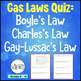 Gas Laws Quiz Bundle of 5 Products: Quizzes, Unit Test, Jeopardy Game