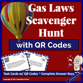 Gas Laws Scavenger Hunt with QR Codes
