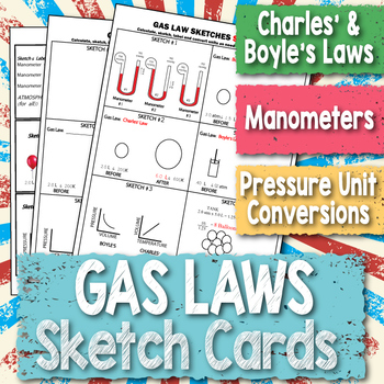 Gas Laws Sketch Cards ~CHEMISTRY~  Boyle's & Charles
