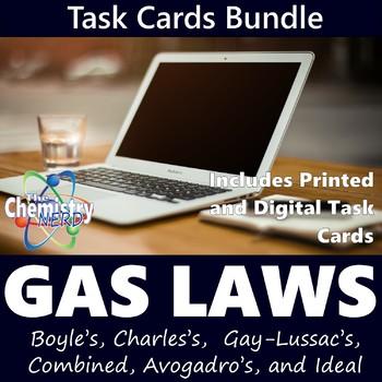 Gas Laws Task Card Bundle