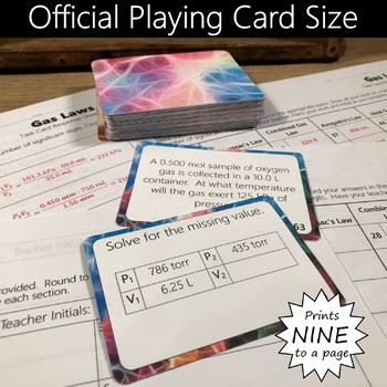 Gas Laws Task Cards Activity-Six Gas Laws