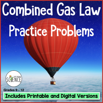 gas laws the combined gas law homework by amy brown science tpt. Black Bedroom Furniture Sets. Home Design Ideas