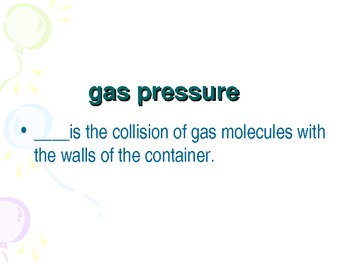 Gas Laws Vocabulary Powerpoint