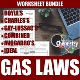 Gas Laws Worksheets | Boyle's Charles's Gay-Lussac's Combi