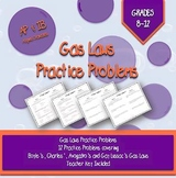 Gas Laws Worksheets and Key