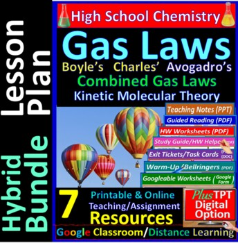Gas Laws: iPractice (Interactive PPT Worksheet for Test &
