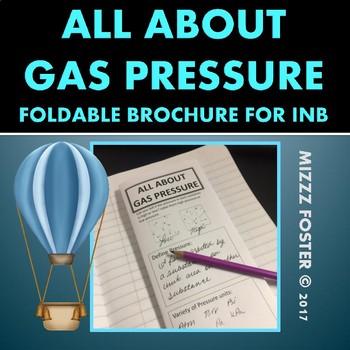 Gas Pressure Conversion Foldable Brochure for INB (Gas Laws)