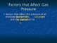 Gas Pressure Notes