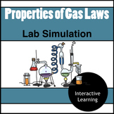 Gas Properties and Gas Laws Simulation Virtual Lab