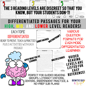 Gases and Matter Differentiated Reading Passages Science Nonfiction Texts