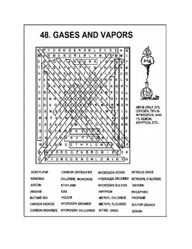 Gases and Vapors Word Search