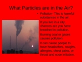 Gases in the Atmosphere/Particles in the Atmosphere