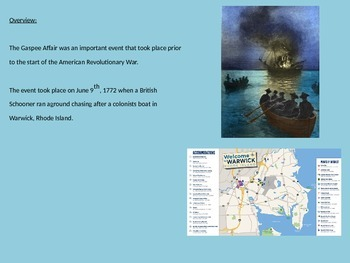 Gaspee Affair - Power Point - Information History Pictures Facts