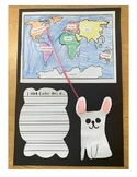 Gaston by Kelly Dipucchio - I think Gaston lives craft with continent map