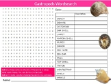Gastropods Wordsearch Puzzle Sheet Keywords Activity Animals Biology