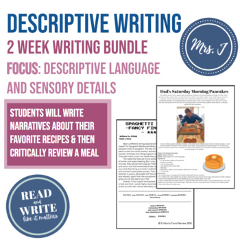 Gather Together 2 Week Writing Unit: Focus on Sensory Detail & Critical Analysis