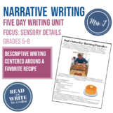 Gather Together Descriptive Writing Unit: Focus on Sensory