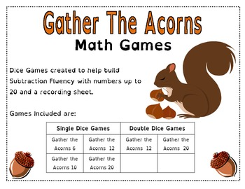Gather the Acorns - Math Games