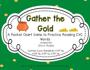 Gather the Gold CVC Pocket Chart Game