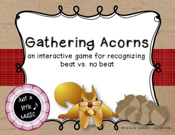 Gathering Acorns - An interactive game for recognizing bea