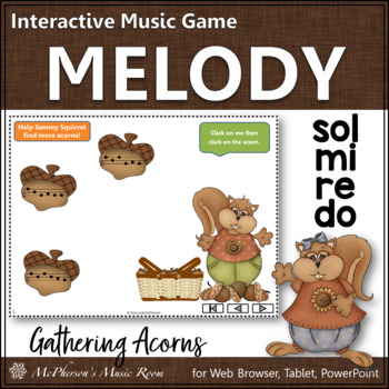 Do Re Mi Sol Interactive Melody Game {Gathering Acorns}