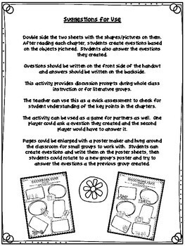 Gathering Blue Chapter Symbols Activity Sheets (Lois Lowry)