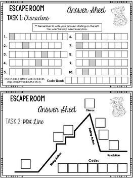 Gathering Blue Escape Room (Lois Lowry)