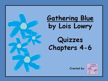Gathering Blue Quizzes   (Chapters 4-6)